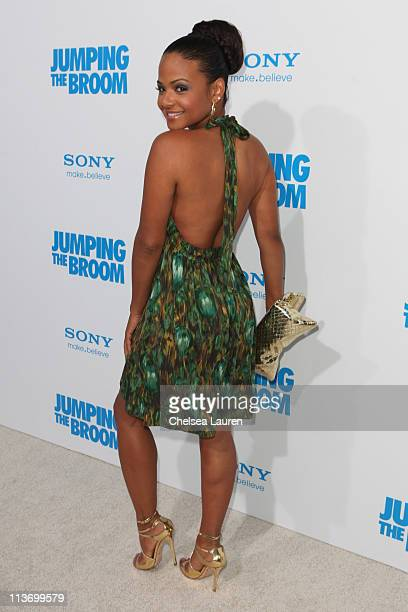 Singer/actress Christina Milian arrives at the Los Angeles premiere of 'Jumping The Broom' at ArcLight Cinemas Cinerama Dome on May 4 2011 in...