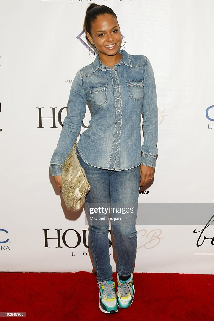Singer/Actress Christina Milian attends House Of CB House Of Tre Li Pre Grammy Party on February 7 2015 in Los Angeles California