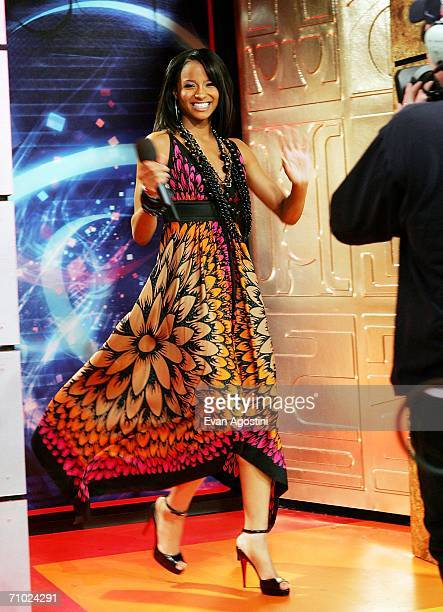 Singer/actress Ciara makes an appearance on MTV's Total Request Live at MTV Studios Times Square on May 23 2006 in New York City