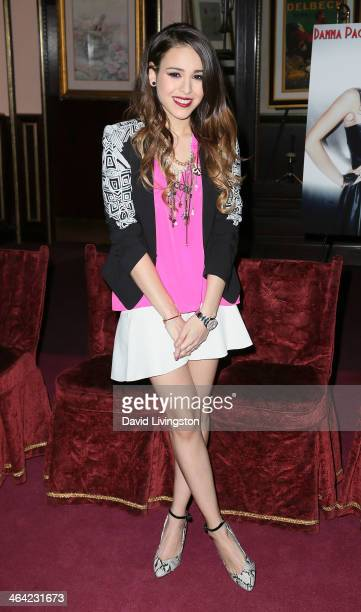 Singer/actress Danna Paola attends a news conference to announce her starring role in 'Saving Sara Cruz' at SIR Los Angeles on January 21 2014 in Los...