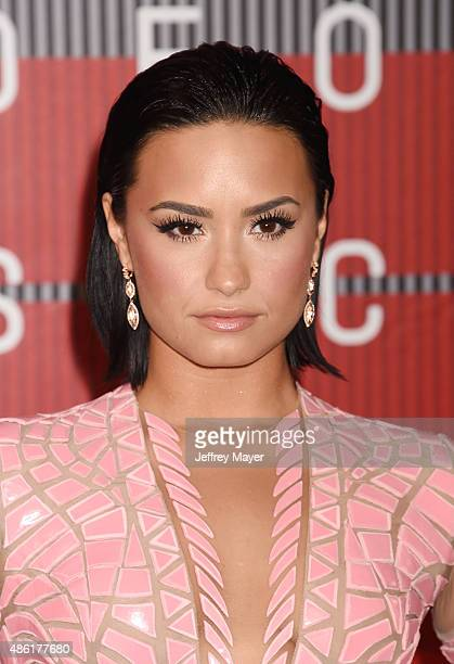 Singer/actress Demi Lovato arrives at the 2015 MTV Video Music Awards at Microsoft Theater on August 30 2015 in Los Angeles California