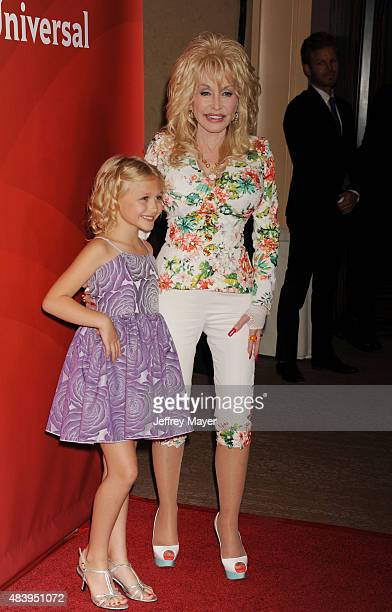 Singer/actress Dolly Parton and actress Alyvia Alyn Lind attend Day 2 of the NBCUniversal press tour 2015 at the Beverly Hilton Hotel on August 13...
