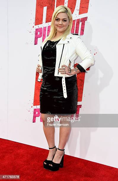 Singer/actress Elle King arrives at the Premiere Of New Line Cinema And MetroGoldwynMayer's 'Hot Pursuit' at TCL Chinese Theatre on April 30 2015 in...