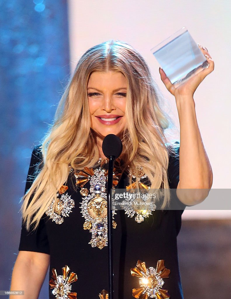Singer/actress Fergie accepts the Always Next Forever Now award onstage during the 2013 NewNowNext Awards at The Fonda Theatre on April 13, 2013 in Los Angeles, California.