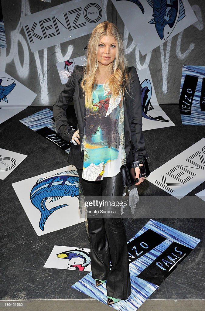 Singer/actress <a gi-track='captionPersonalityLinkClicked' href=/galleries/search?phrase=Fergie+Duhamel&family=editorial&specificpeople=171894 ng-click='$event.stopPropagation()'>Fergie Duhamel</a> attends the Kenzo Kalifornia launch dinner and party at The Berrics on October 30, 2013 in Los Angeles, California.