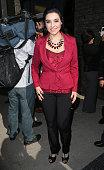 Singer/actress Graciela Beltran attends radio personality Renan Almendarez Coello aka El Cucuy de la Manana being honored with a Star on the...
