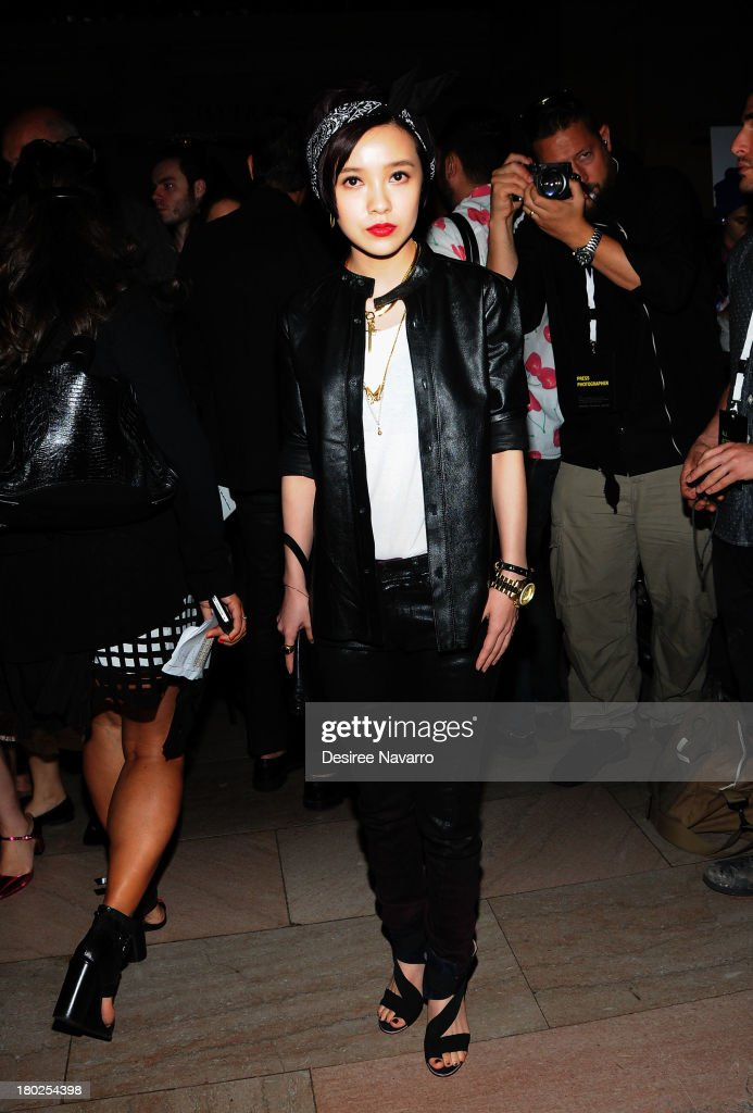 Singer/actress Guo Cai Jie attends the Diesel Black Gold show during Spring 2014 Mercedes-Benz Fashion Week at Vanderbilt Hall at Grand Central Terminal on September 10, 2013 in New York City.
