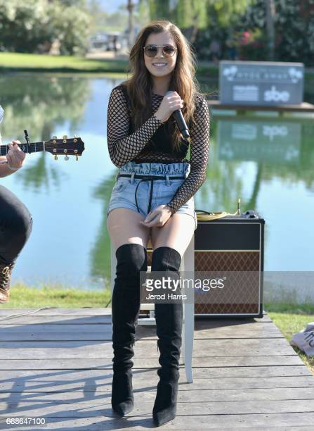 Singer/actress Hailee Steinfeld performs during The Hyde Away hosted by Republic Records SBE presented by Hudson and bareMinerals during Coachella on...