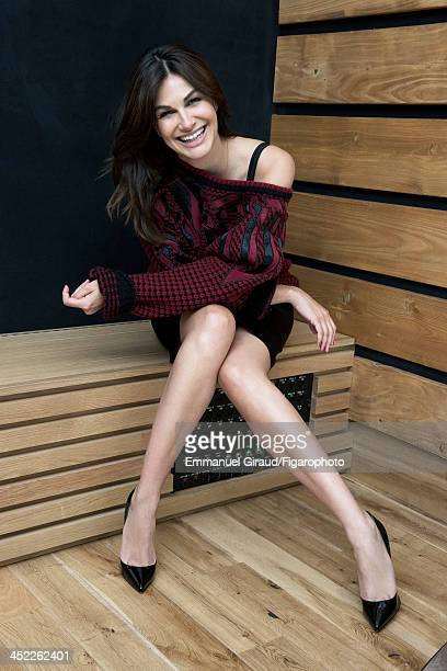 107179002 Singer/actress Helena Noguerra is photographed for Madame Figaro on June 19 2013 in Paris France Sweater dress shoes PUBLISHED IMAGE CREDIT...