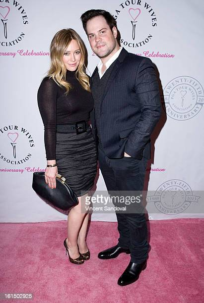 Singer/actress Hilary Duff and hockey player Mike Comrie attends the PGA TOUR Wives Association 25th anniversary at Fairmont Miramar Hotel on...