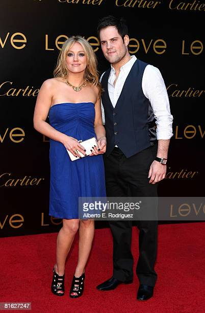 Singer/actress Hilary Duff and New York Islander hockey player Mike Comrie arrive at the third annual Loveday celebration and Cartier Love Charity...