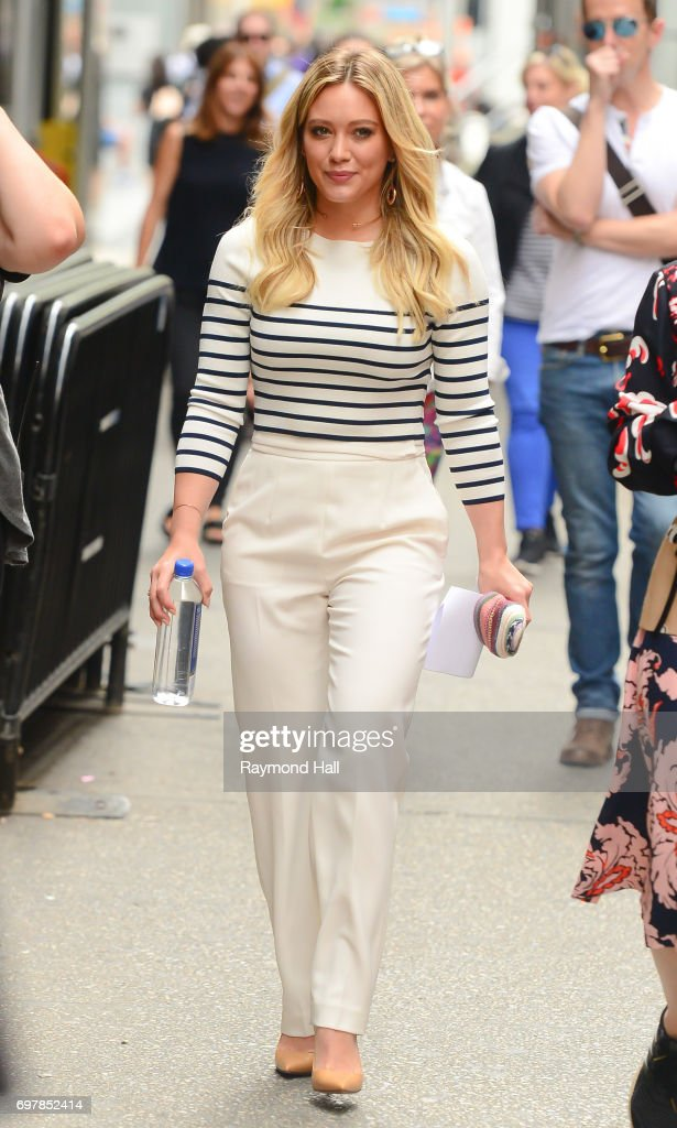 Singer/Actress Hilary Duff is seen is seen walking in Midtown on June 19, 2017 in New York City.