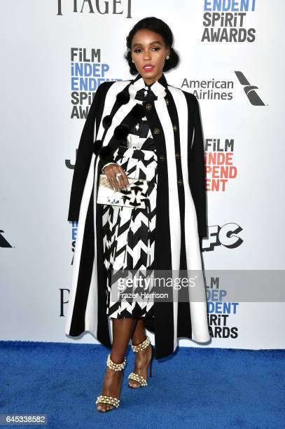 Singer/actress Janelle Monáe attends the 2017 Film Independent Spirit Awards at the Santa Monica Pier on February 25 2017 in Santa Monica California