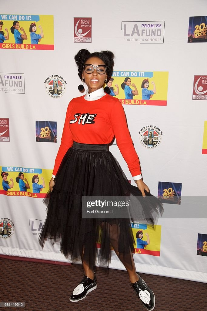Singer/Actress Janelle Monáe attends the LA Promise Fund Screening Of 'Hidden Figures' at USC Galen Center on January 10, 2017 in Los Angeles, California.
