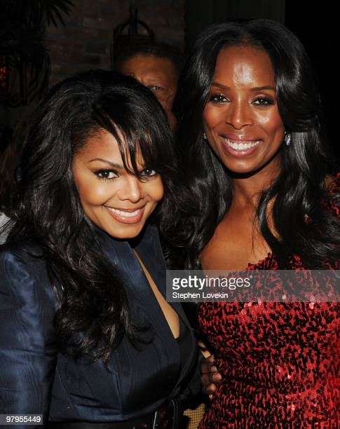 Singer/actress Janete Jackson and actress Tasha Smith attend the 'Why Did I Get Married Too' after party on March 22 2010 in New York City