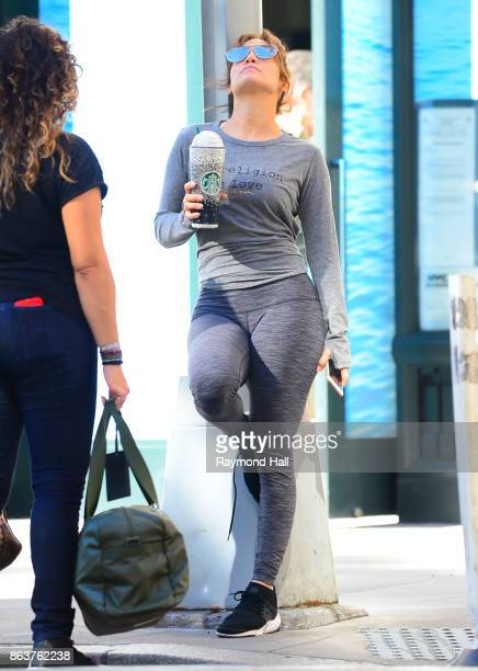 Singer/Actress Jenifer Lopez is seen walking from the GYM in Soho on October 20 2017 in New York City