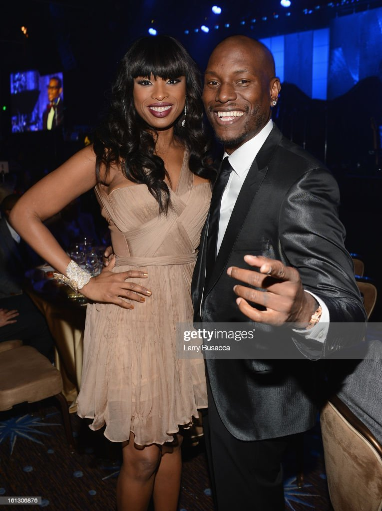 Singer/actress Jennifer Hudson (L) and actor Tyrese Gibson attend the 55th Annual GRAMMY Awards Pre-GRAMMY Gala and Salute to Industry Icons honoring L.A. Reid held at The Beverly Hilton on February 9, 2013 in Los Angeles, California.