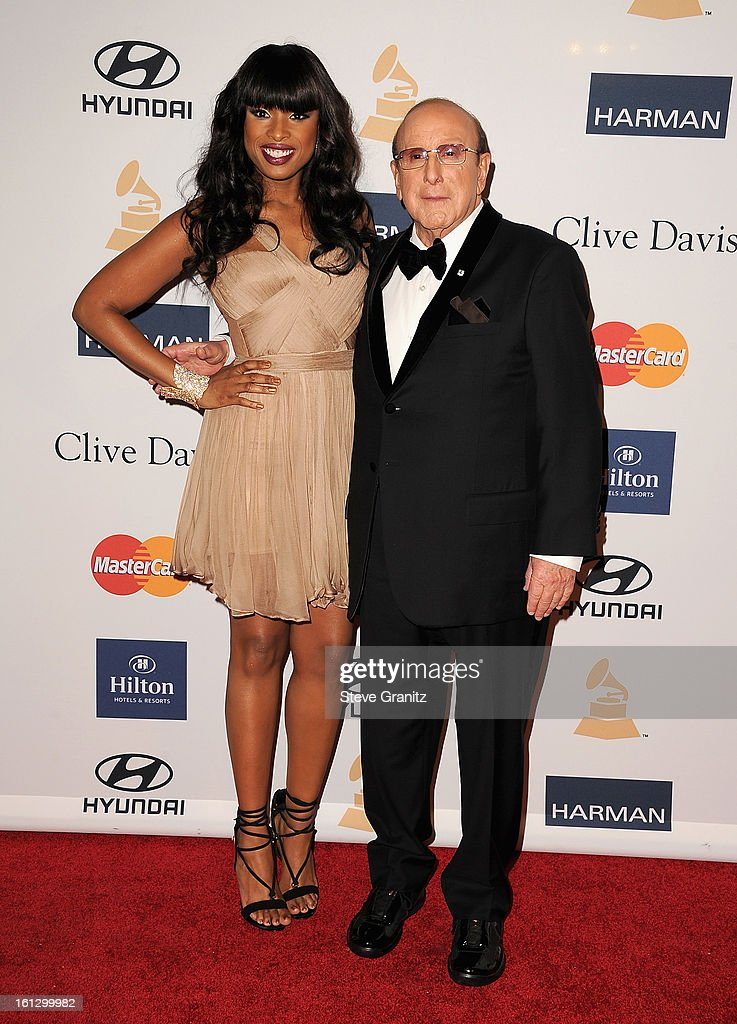 Singer/actress Jennifer Hudson (L) and Sony Music Entertainment CCO Clive Davis arrive at the 55th Annual GRAMMY Awards Pre-GRAMMY Gala and Salute to Industry Icons honoring L.A. Reid held at The Beverly Hilton on February 9, 2013 in Los Angeles, California.