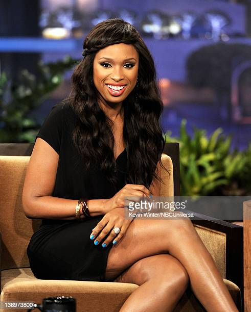 Singer/actress Jennifer Hudson appears on the Tonight Show With Jay Leno at NBC Studios on January 13 2012 in Burbank California