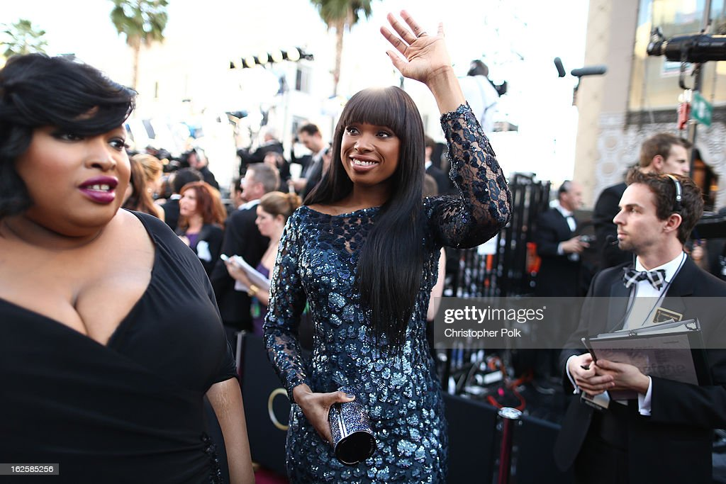 Singer/actress Jennifer Hudson arrives at the Oscars held at Hollywood & Highland Center on February 24, 2013 in Hollywood, California.