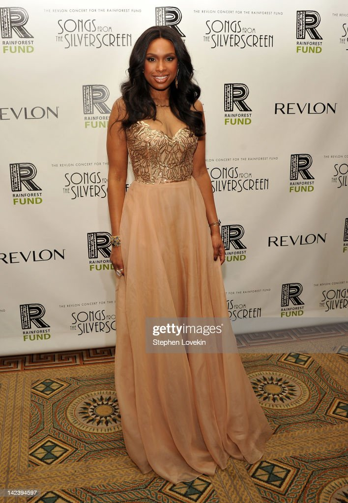 Singer/actress <a gi-track='captionPersonalityLinkClicked' href=/galleries/search?phrase=Jennifer+Hudson&family=editorial&specificpeople=234833 ng-click='$event.stopPropagation()'>Jennifer Hudson</a> attends the after party for the 2012 Concert for the Rainforest Fund at The Pierre Hotel on April 3, 2012 in New York City.
