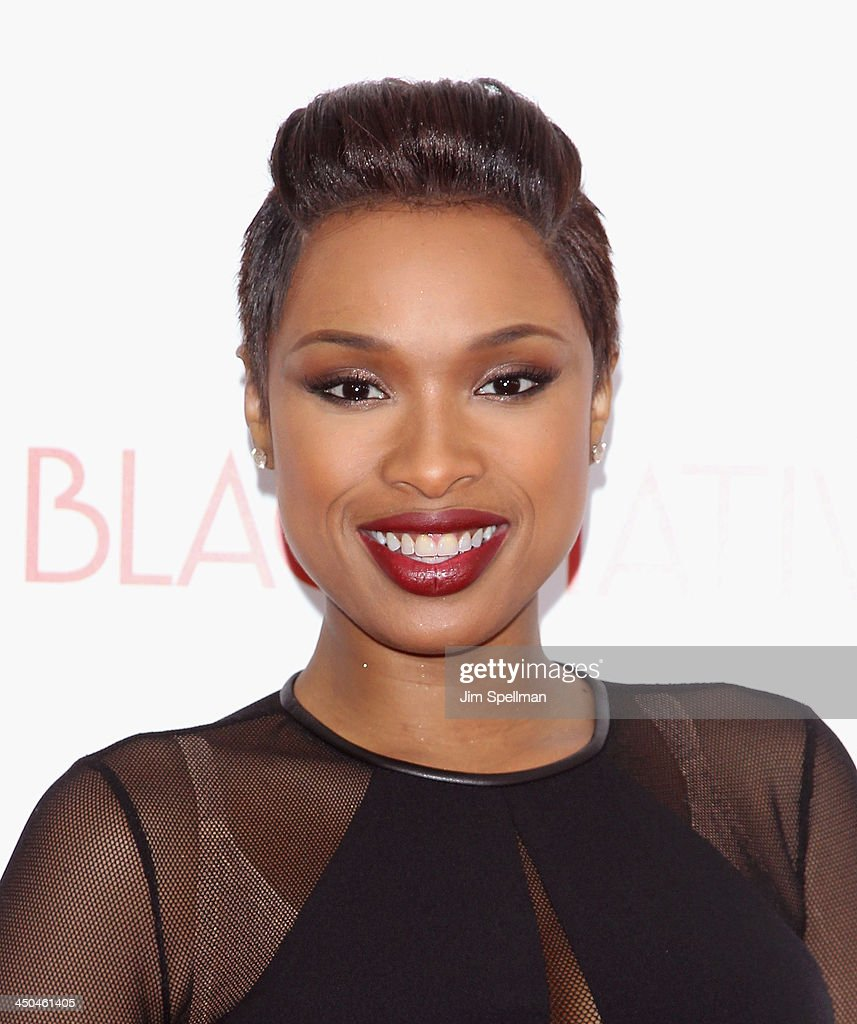 Singer/actress Jennifer Hudson attends the 'Black Nativity' premiere at The Apollo Theater on November 18, 2013 in New York City.