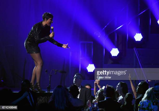 Singer/actress Jennifer Hudson performs during the 21st annual Keep Memory Alive 'Power of Love Gala' benefit for the Cleveland Clinic Lou Ruvo...
