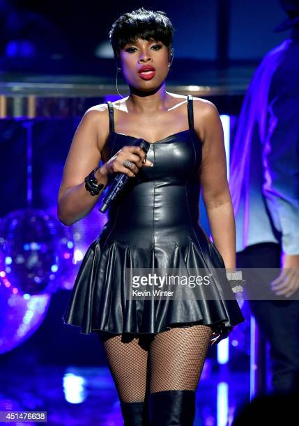 Singer/actress Jennifer Hudson performs onstage during the BET AWARDS '14 at Nokia Theatre LA LIVE on June 29 2014 in Los Angeles California