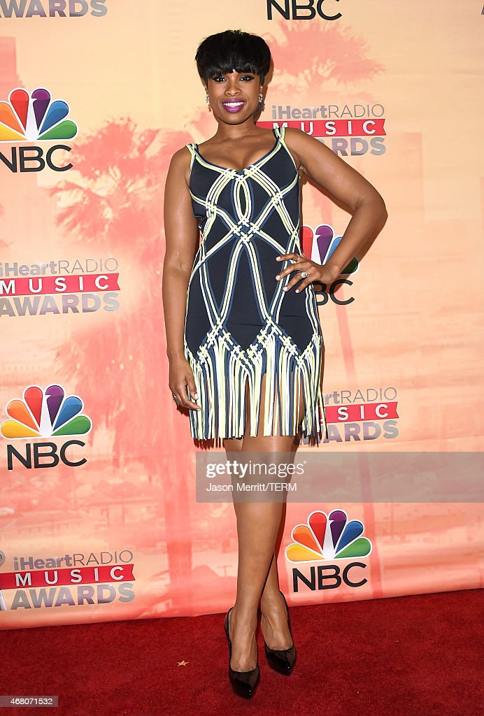 Singer/actress Jennifer Hudson poses in the press room during the 2015 iHeartRadio Music Awards which broadcasted live on NBC from The Shrine...
