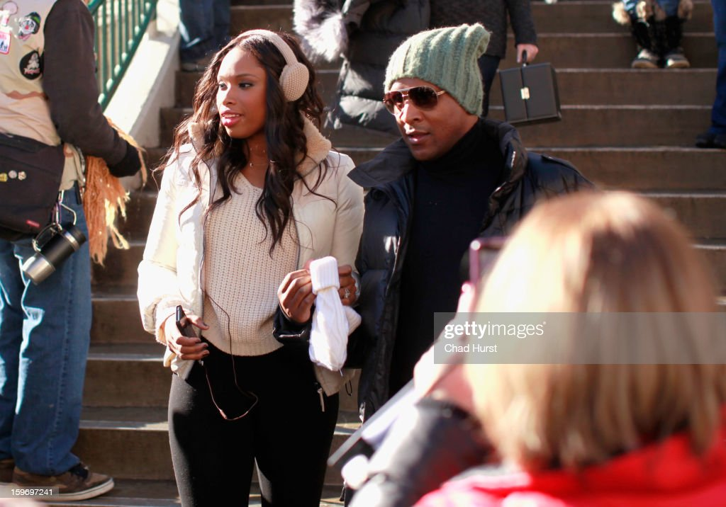 Singer/actress <a gi-track='captionPersonalityLinkClicked' href=/galleries/search?phrase=Jennifer+Hudson&family=editorial&specificpeople=234833 ng-click='$event.stopPropagation()'>Jennifer Hudson</a> seen on the street on January 18, 2013 in Park City, Utah.