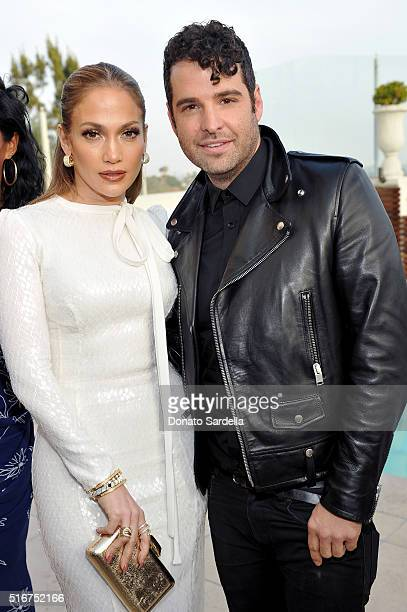 Singer/actress Jennifer Lopez and honoree/women's stylist Rob Zangardi attend The Daily Front Row 'Fashion Los Angeles Awards' 2016 at Sunset Tower...