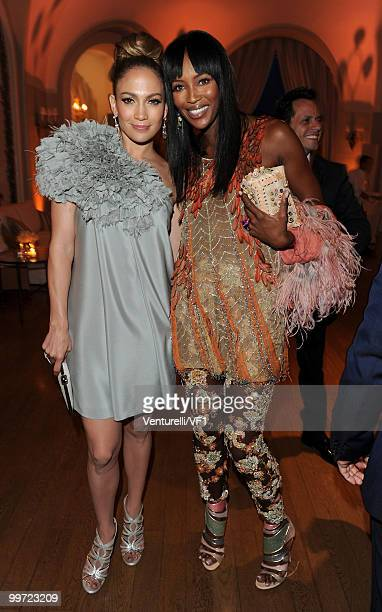CANNES FRANCE MAY 15 Singer/actress Jennifer Lopez and model Naomi Campbell attend the Vanity Fair and Gucci Party Honoring Martin Scorsese during...