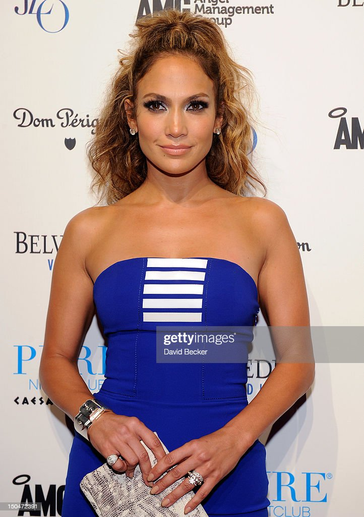 Singer/actress Jennifer Lopez arrives at a post concert party at the Pure Nightclub at Caesars Palace early August 19, 2012 in Las Vegas, Nevada.