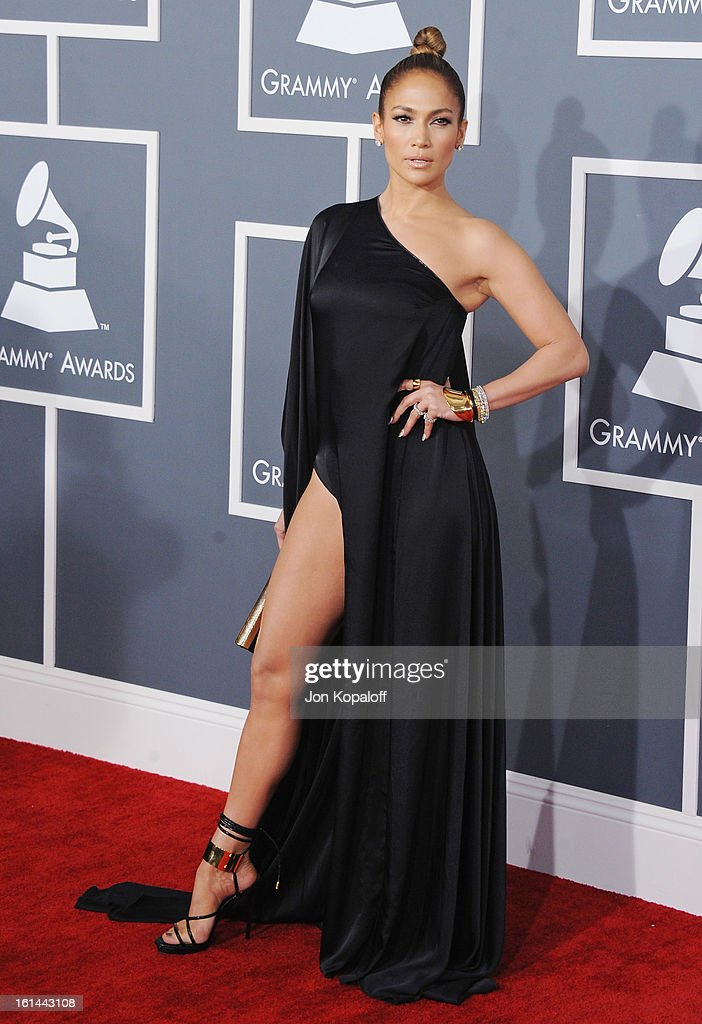Singer/Actress Jennifer Lopez arrives at The 55th Annual GRAMMY Awards at Staples Center on February 10, 2013 in Los Angeles, California.
