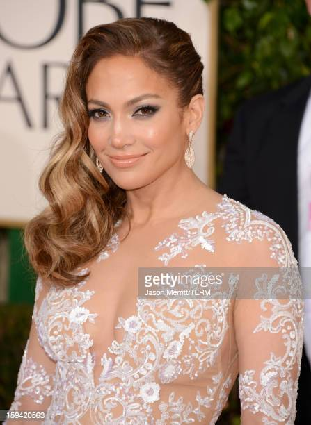 Singeractress Jennifer Lopez arrives at the 70th Annual Golden Globe Awards held at The Beverly Hilton Hotel on January 13 2013 in Beverly Hills...