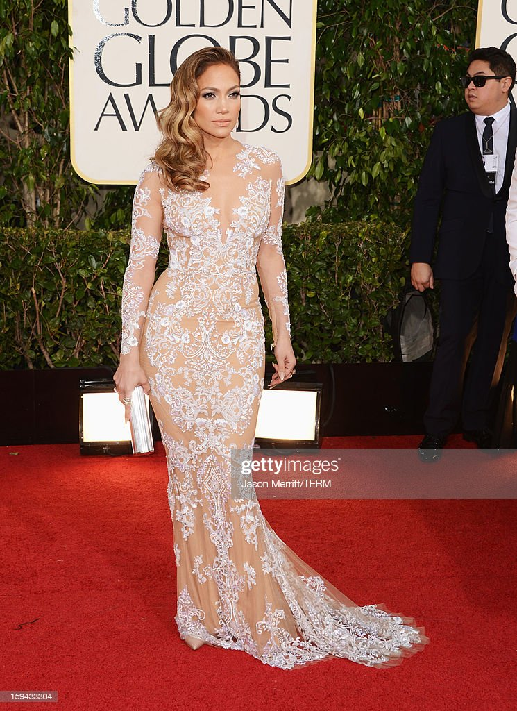 Singer/actress Jennifer Lopez arrives at the 70th Annual Golden Globe Awards held at The Beverly Hilton Hotel on January 13 2013 in Beverly Hills...