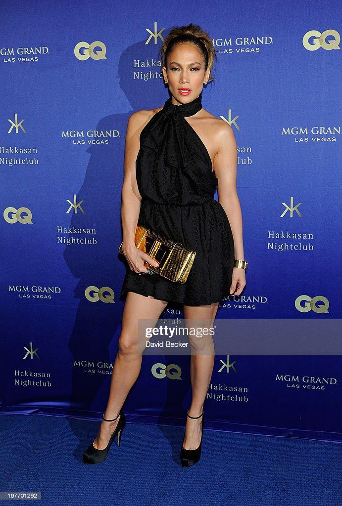 Singer/actress Jennifer Lopez arrives at the grand opening of Hakkasan Las Vegas Restaurant and Nightclub at the MGM Grand Hotel/Casino on April 27, 2013 in Las Vegas, Nevada.