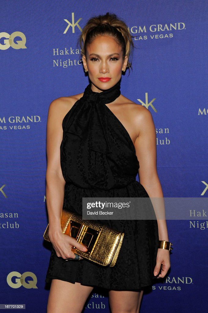 Singer/actress <a gi-track='captionPersonalityLinkClicked' href=/galleries/search?phrase=Jennifer+Lopez&family=editorial&specificpeople=201784 ng-click='$event.stopPropagation()'>Jennifer Lopez</a> arrives at the grand opening of Hakkasan Las Vegas Restaurant and Nightclub at the MGM Grand Hotel/Casino on April 27, 2013 in Las Vegas, Nevada.