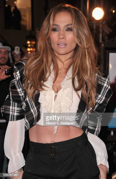 Singer/actress Jennifer Lopez arrives to a taping of 'Extra' at The Grove on March 3 2011 in Los Angeles California