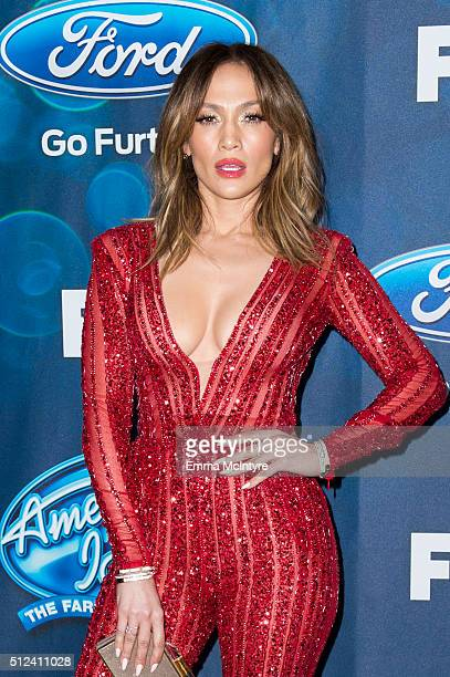 Singer/actress Jennifer Lopez attends Meet Fox's 'American Idol XV' Finalists at The London Hotel on February 25 2016 in West Hollywood California