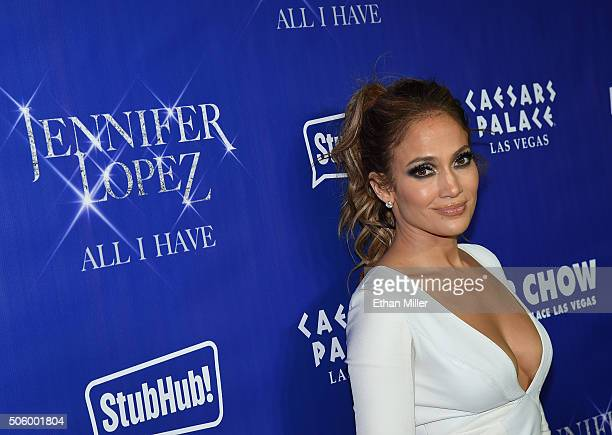 Singer/actress Jennifer Lopez attends the after party for her residency 'JENNIFER LOPEZ ALL I HAVE' and the grand opening of Mr Chow at Caesars...