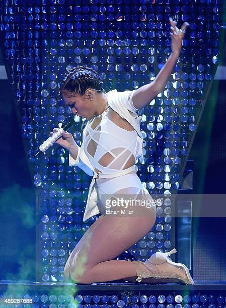 Singer/actress Jennifer Lopez performs at the 2015 iHeartRadio Music Festival at MGM Grand Garden Arena on September 19 2015 in Las Vegas Nevada