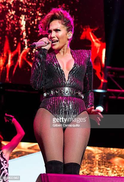 Singer/actress Jennifer Lopez performs during Mega 979 Megaton Concert at Madison Square Garden on October 28 2015 in New York City
