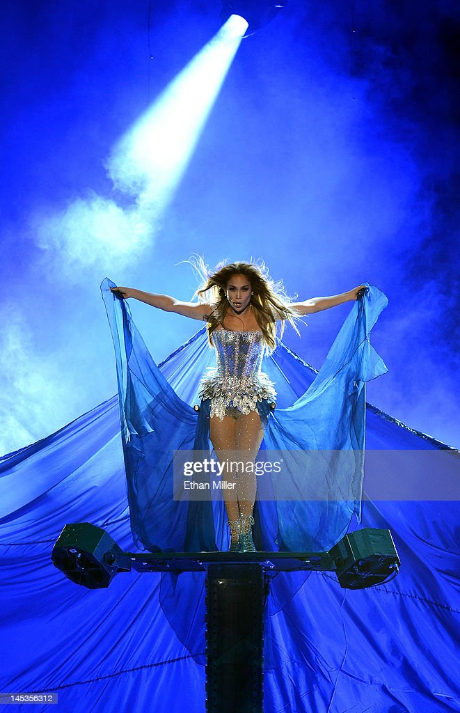 Singer/actress Jennifer Lopez performs during the Q'Viva! The Chosen Live show at the Mandalay Bay Events Center on May 26, 2012 in Las Vegas, Nevada.