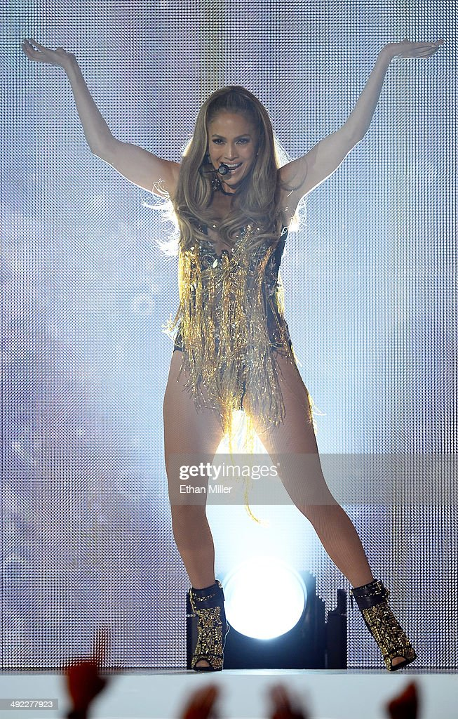 Singer/actress <a gi-track='captionPersonalityLinkClicked' href=/galleries/search?phrase=Jennifer+Lopez&family=editorial&specificpeople=201784 ng-click='$event.stopPropagation()'>Jennifer Lopez</a> performs onstage during the 2014 Billboard Music Awards at the MGM Grand Garden Arena on May 18, 2014 in Las Vegas, Nevada.