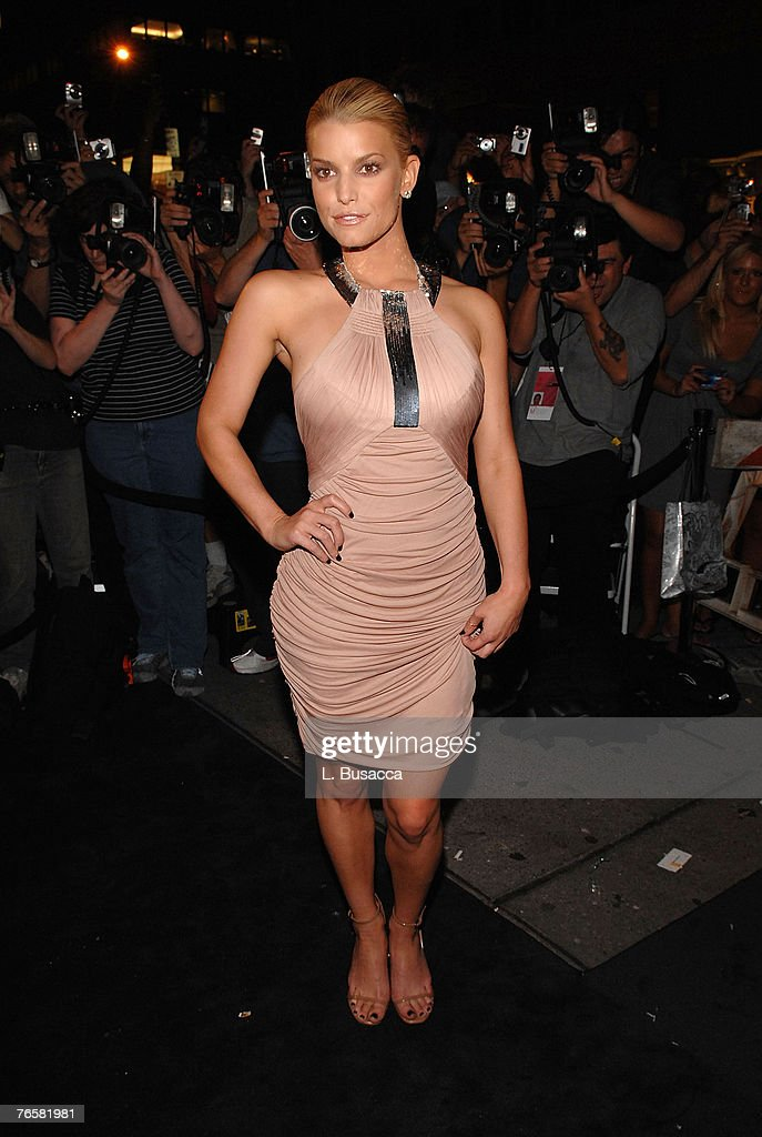 Singer/actress Jessica Simpson at the Just Cavalli New York Flagship store opening during MercedesBenz Fashion Week Spring 2008 on September 7 2007...