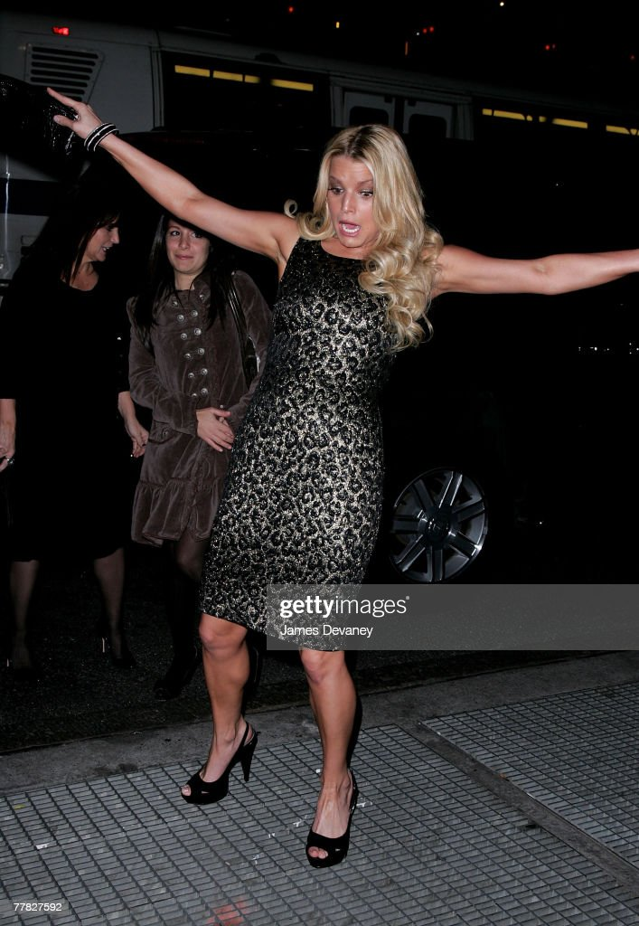 Singer/Actress Jessica Simpson attends the 11th Annual ACE Awards at Cipriani 42 on November 5 2007 in New York City