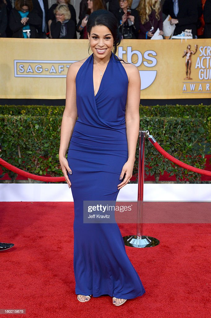 Singer/actress Jodin Sparks arrives at the 19th Annual Screen Actors Guild Awards held at The Shrine Auditorium on January 27, 2013 in Los Angeles, California.