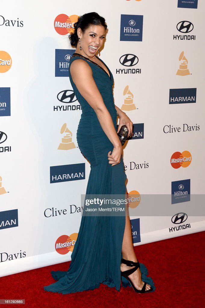 Singer/actress Jordin Sparks arrives at Clive Davis & The Recording Academy's 2013 Pre-GRAMMY Gala and Salute to Industry Icons honoring Antonio 'L.A.' Reid at The Beverly Hilton Hotel on February 9, 2013 in Beverly Hills, California.