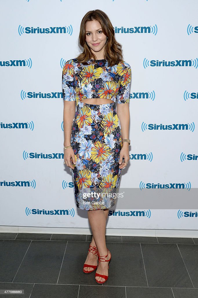 Singer/actress Katharine McPhee visits at SiriusXM Studios on June 18, 2015 in New York City.